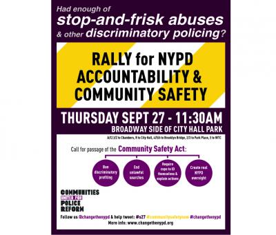 Rally for NYPD Accountability & Community Safety